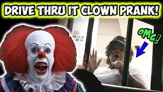 Video Drive Thru IT Clown Prank!! MP3, 3GP, MP4, WEBM, AVI, FLV September 2017