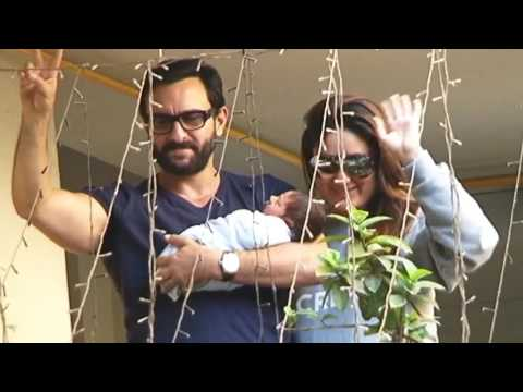 Kareena Kapoor & Saif Ali Khan first appearance with Taimur