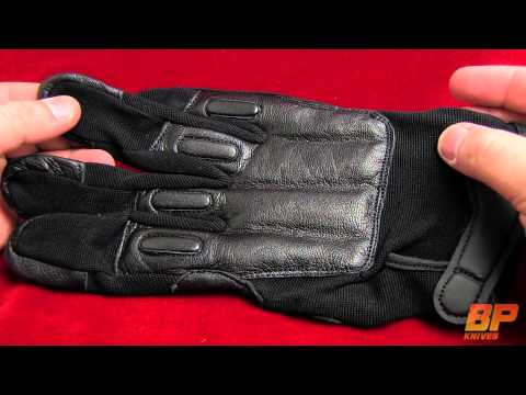 SAP Elite Leather Full-Finger Gloves w/ Steel Shot Knuckles (1 Pair)