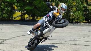2. Honda Grom & CRF50 Stunts / Wheelies + Wipeout!