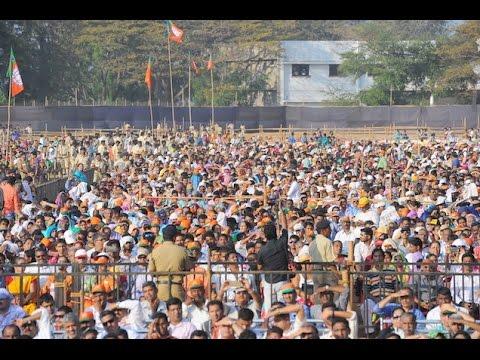 PM Modi at a Public Meeting in Panaji, Goa