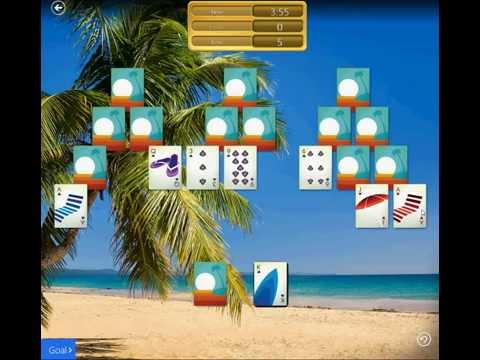 Tropical Breeze\Mixed II\TriPeaks - Clear 9 Tens in 2 deals and in 5:00 or less