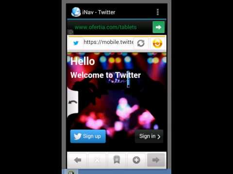 Video of iNav - Internet browser