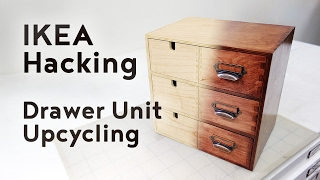 Sure, most furniture IKEA sells are flat pack, laminate, things, but there are also quite a few items made of raw untreated wood. In this video we're looking to upcycle a Moppe drawer unit, taking it from raw plywood to a classy Mahogany stained eye-catcher!Follow and like Switch & Lever on:Facebook: https://www.facebook.com/SwitchAndLeverInstagram: http://instagram.com/switchandleverTwitter: https://twitter.com/switchandleverPinterest: http://www.pinterest.com/switchandlever/Linkedin: http://www.linkedin.com/profile/view?id=174927629And check out the Switch & Lever online store at:http://www.switchandlever.com/store/----------------------Music:Nicolai Heidlas - Sunny AfternoonCC BY 4.0Photos:Bouges-le-Château (Indre). by Daniel JolivetCC BY 2.0IKEA HACK 04 by Auguste & ClaireCC BY 3.0