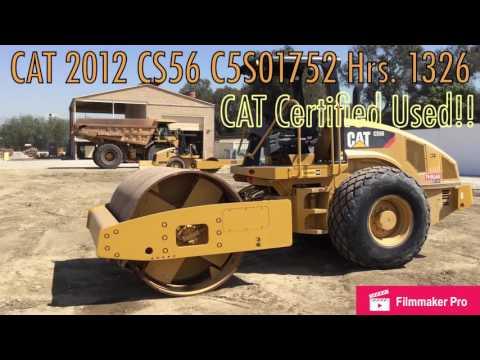CATERPILLAR VIBRATORY SINGLE DRUM SMOOTH CS56 equipment video VftJE2p2l9c