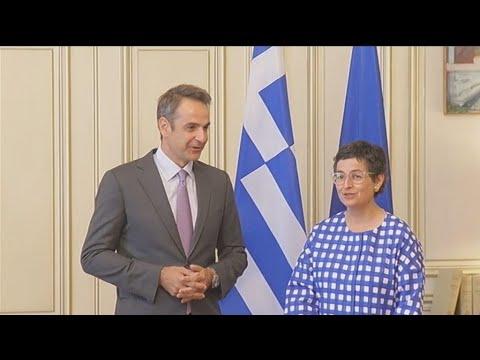 Συνάντηση του πρωθυπουργού με την ΥΠΕΞ της Ισπανίας