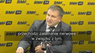 """Waldemar Żurek w Rozmowie RMF:  """"Sędzia, która ukradła spodnie, od 12 lat nie sądzi i jest ciężko chora.  Atakowanie jej jest obrzydliwe""""."""