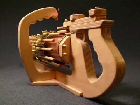 Up Close and Personal --- RotaryMek-12X Rubber Band Machine Gun