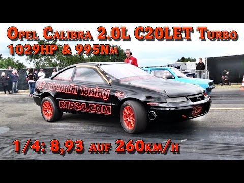 Cars Videos : Opel Calibra C20LET Turbo 1029HP Quarter mile 8,93s @ 260kmh FASTEST OPEL in GERMANY! | SnappyGears | Leading Wheels & Gears Inspiration Magazine