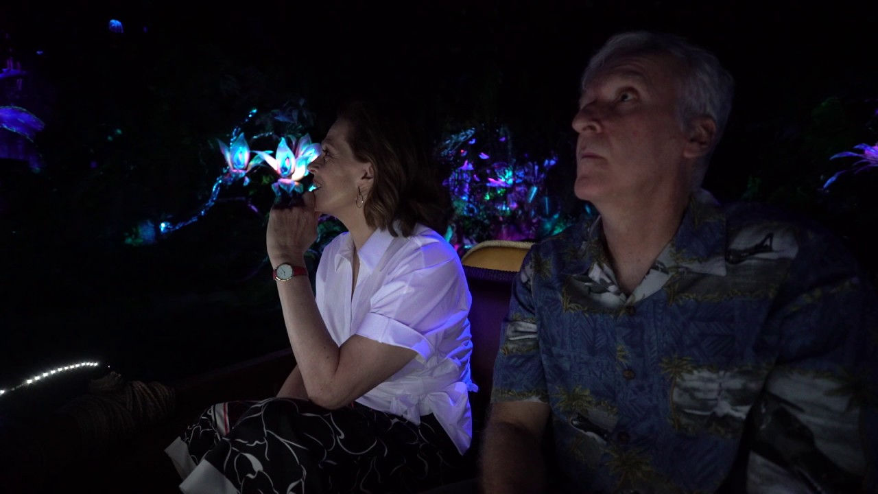 Sigourney Weaver & James Cameron Ride Na'vi River Journey