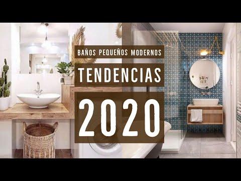 BAÑOS modernos PEQUEÑOS 🚿 | Tendencias 2020