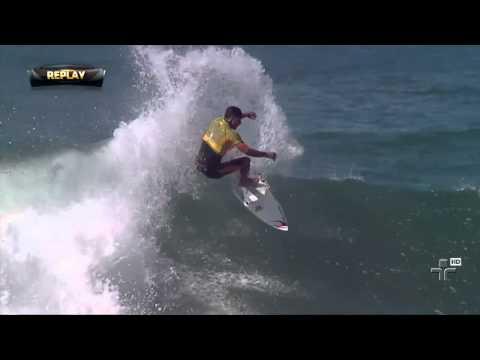 Gabriel medina cai na repescagem no Mundial de Surf nos EUA - 12/09/2014