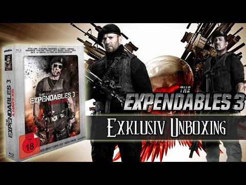 The Expendables 3 - A Man's Job - Extended Director's Cut - Limited Hero Pack Blu-Ray unboxing