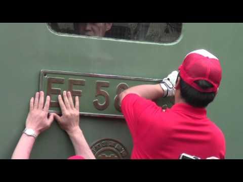 EF58-93 大宮総合車両センター「鉄道ふれあいフェア2013」終了後のプレート外し