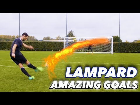 FRANK LAMPARD + THE F2   EPIC SHOOTING SESSION! AMAZING GOALS!