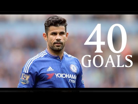 Diego Costa - First 40 Goals For Chelsea Fc - Hd