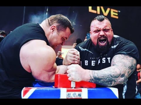 Eddie Hall vs. Lalas - Armwrestling Match ( Europes Strongest Man 2019 ) - ESM