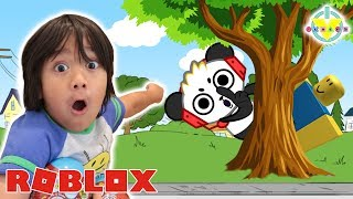 RYAN PLAYS HIDE AND SEEK EXTREME IN ROBLOX WITH COMBO PANDA! Best Hiding Spots!