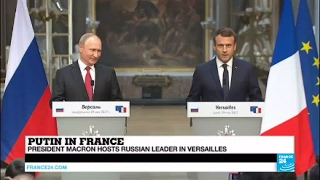Video REPLAY - Watch French President Macron and Russian Leader Putin's Joint Press Conference MP3, 3GP, MP4, WEBM, AVI, FLV Mei 2017