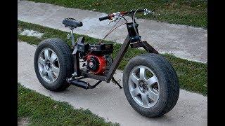 Video Homemade 200cc MOTORCYCLE of CAR TIRES !?  / PART 1 MP3, 3GP, MP4, WEBM, AVI, FLV September 2019