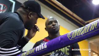 DILLIAN WHYTE TAPS LUCAS BROWNE ON THE HEAD BEFORE WORKOUT