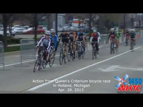 Action from the Queen's Criterium sprint bicycle race through downtown Holland held on Apr. 28, 2013.