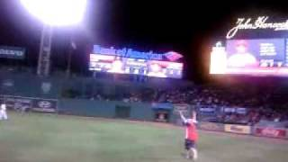 Drunk Guy Ran On Field During Red Sox Game and Gets Drilled
