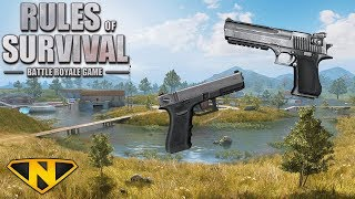 Video PISTOL ONLY CHALLENGE! (Rules of Survival: Battle Royale #100) MP3, 3GP, MP4, WEBM, AVI, FLV Agustus 2018