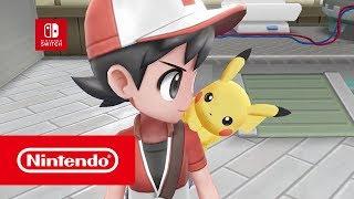 Pokémon: Let's Go, Pikachu! & Pokémon: Let's Go, Eevee! - Announcement trailer (Nintendo Switch)