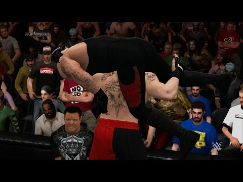 WWE 2K15 - Brock Lesnar Vs Undertaker (Universe Mode) 1080p HD