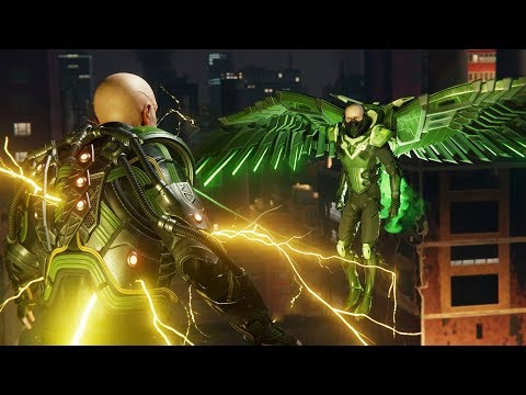 Spider-Man PS4: Vulture And Electro Boss Fight