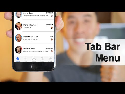 Swift: FB Messenger - How To Create A Tab Bar Menu, Cell Highlights, NSDate Formats (Ep 4)