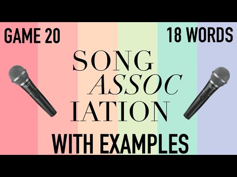 Song Association Game Words (WITH EXAMPLES) Game 16