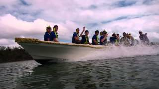 Our 24 ft. Panga with a load of Boy Scouts!
