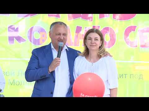 Șeful statului a participat la Festivalul Familiei, care s-a desfășurat la Comrat