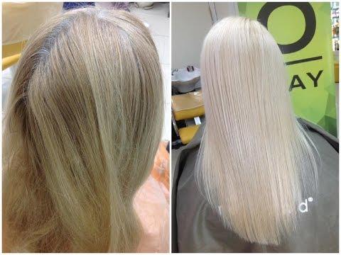 Осветление краской в блондинку