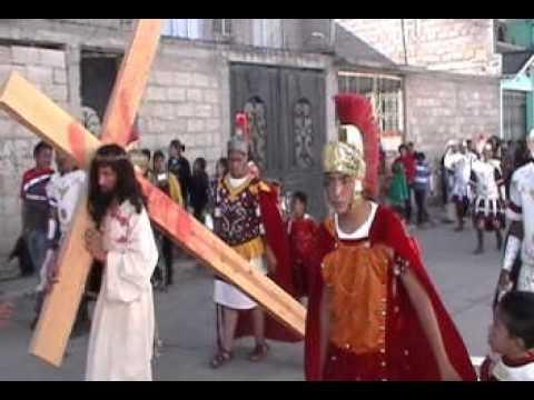 TENANGO - representación de la pasión de Cristo, realizada por