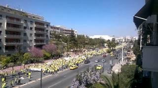 Η λαοθάλασσα των κατοίκων της Χαλκιδικής στην Αθήνα
