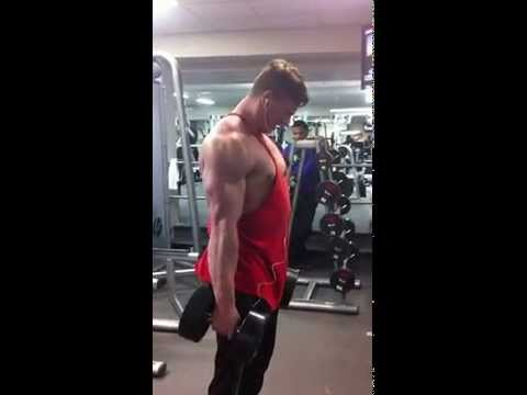 65lb alternating DB curls