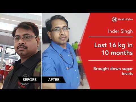 Transformation Stories | Inder Lost 16 Kg And Brought Down Cholesterol & Sugar Levels | HealthifyMe