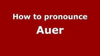 Auer Italy  City pictures : How to pronounce Auer (Italian/Italy) - PronounceNames.com