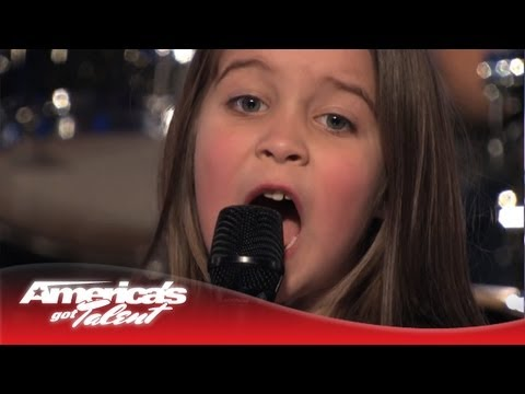 America's Got Talent - She looks like a princess, but sings like a heavy metal warrior! Brother and sister duo Aaralyn & Izzy sing their original song,