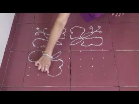 Rangoli using dots 8*8