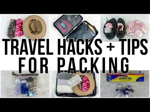 TRAVEL HACKS + TIPS FOR PACKING