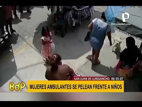 Comerciantes se agarran a golpes en San juan de Lurigancho