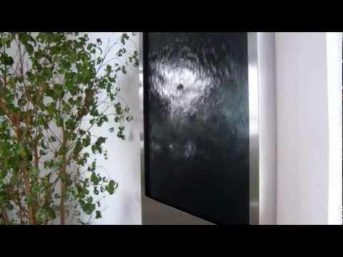 Wandbrunnen Wasserbild Black Mustang