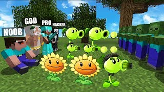 Video Minecraft Battle: NOOB vs PRO vs HACKER vs GOD : PLANTS VS ZOMBIE Challenge in Minecraft MP3, 3GP, MP4, WEBM, AVI, FLV Juni 2019