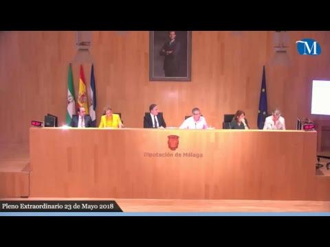 Pleno extraordinario de mayo 2018, Diputación de Málaga