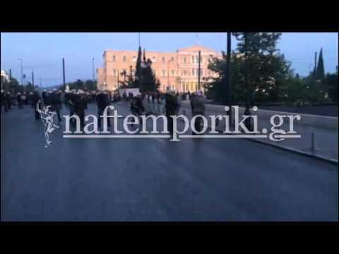 Ένταση στην πλατεία Συντάγματος