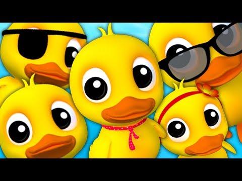 fünf kleine Enten | Enten reime | deutsche Reime | Kinderreime | Five Little Ducks | Kids Rhymes